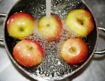 Apples prepared for cooking Stock Image