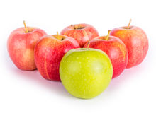 Apples in a pyramid Royalty Free Stock Photography