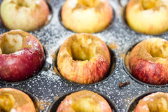 Apples ready for bake. Royalty Free Stock Photo