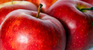 Apples. Red blurry apples Royalty Free Stock Photos