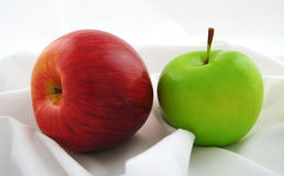 Apples red and green Royalty Free Stock Photos