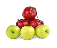 Apples red and  green isolated white background Royalty Free Stock Photography