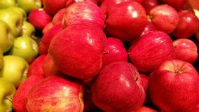 Apples. Red and green apples at a produce stand Stock Images