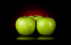 Apples in red light Stock Photos