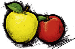 Apples. Red and yellow  apples Stock Photography