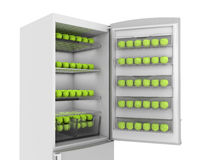 Apples in refrigerator Royalty Free Stock Photo