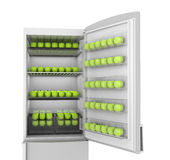 Apples in refrigerator Stock Photos