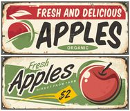 Apples retro signs Stock Image