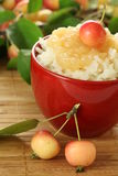Apples and rice Stock Photo