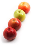 Apples in a row on a diagonal Royalty Free Stock Photo
