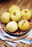 Apples on the rustic table, tinted Royalty Free Stock Photography