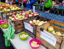 Apples for Sale at Farmer's Market Stock Photography