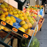 Apples on sale at the greengrocer's Royalty Free Stock Images