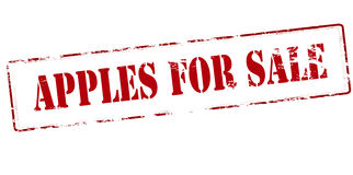 Apples for sale Royalty Free Stock Photography