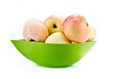 Apples are in a saucer Stock Photos