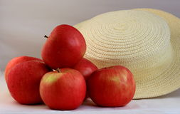 Apples scattered Stock Image
