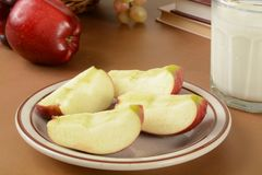 Apples after school Royalty Free Stock Photo