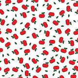 Apples seamles pattern Stock Photography