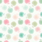 Apples seamles pattern Royalty Free Stock Photos