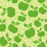Apples seamless background. Apples with leaves seamless background Royalty Free Stock Photography