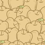 Apples Seamless Pattern. Color vector illustration. Wallpaper Royalty Free Stock Images