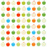 Apples seamless pattern Stock Images