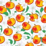 Apples seamless pattern Royalty Free Stock Photo