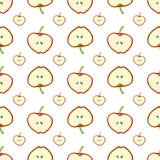 Apples seamless pattern. Simple vector background with fruit. For fabric, textile, wallpaper, wrapping. Paper Stock Illustration