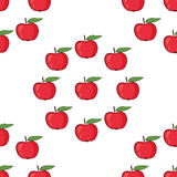 Apples. Seamless pattern vector background Royalty Free Stock Image
