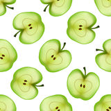 Apples seamless pattern. Vector. Illustration Royalty Free Stock Images