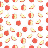 Apples seamless texture. Apples background, wallpaper. Vector illustration Royalty Free Stock Photos