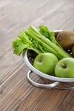 Apples, selery and kiwi Stock Photo