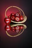 Apples series 4. Basket full of apples Royalty Free Stock Photography