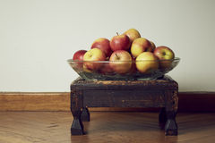Apples. Set of apples in a plate Stock Images