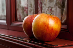 Apples on Sill Stock Image