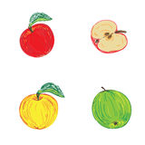 Apples in sketch style, vector illustration. Vector illustration of apples in sketch style vector illustration