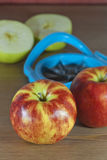 Apples and slicer Royalty Free Stock Photography