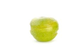 Apples slices Stock Images