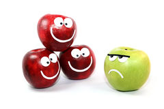 Apples-smilies Stock Images