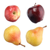 Apples snd Pears isolated on white Royalty Free Stock Photos