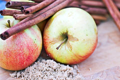 Apples and Spices Stock Images