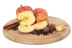 Apples and Spices Stock Photo