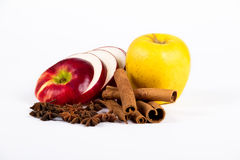 Apples with spices Royalty Free Stock Image