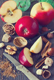 Apples and spices. Royalty Free Stock Images