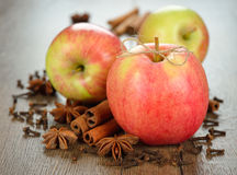 Apples and spices Royalty Free Stock Photos