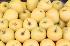 Apples. Stacked apples in outdoor grocery store Stock Photography