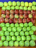 Apples stall Stock Image