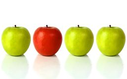Apples - standing out from the crowd Royalty Free Stock Images