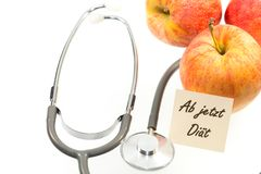 Apples and stethoscope Royalty Free Stock Photography