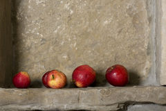 Apples still life. On stone Stock Photo
